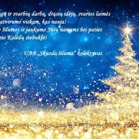 """UAB """"Skuodo šiluma"""" kolektyvo sveikinimas Šv. Kalėdų proga"""